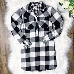 • J. Crew Plaid Flannel Shirtdress •